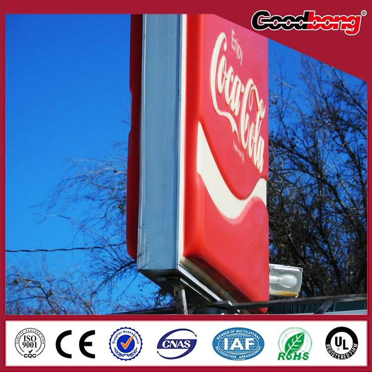 Outdoor Waterproof free standing metal frame acrylic light box signage