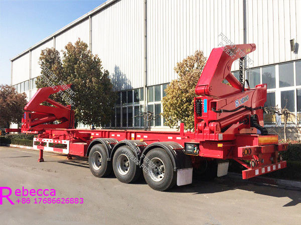 40ft sidelifter container trailer 3 axle side lifter loader chassis truck trailer