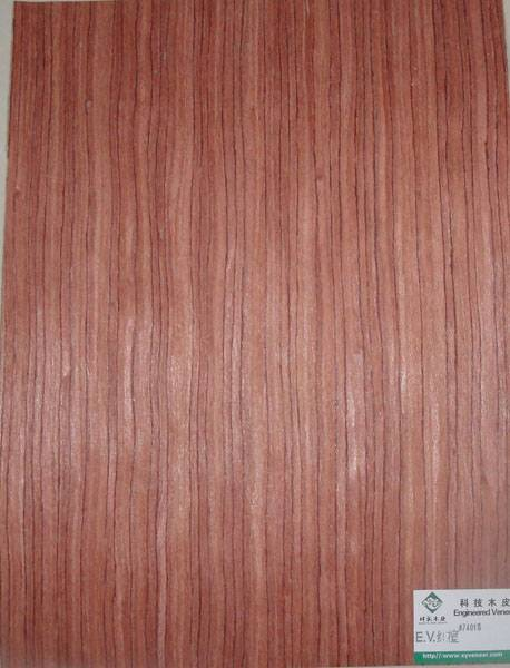 Engineered red ebony veneer