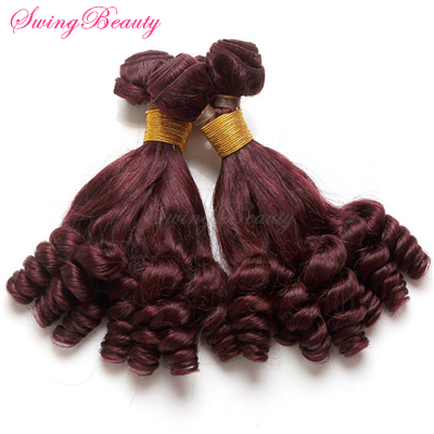 African Funmi Afro Curly Hair Natural Peruvian Human Hair Weft