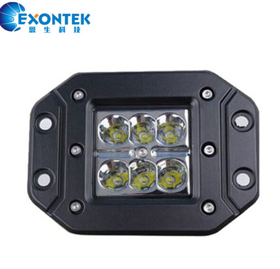 4x4 accessories off road led work light 18W running Driving lights Offroad SUV JEEP Tractor