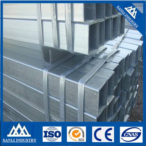 Hot dipped galvanized square steel pipe/tube