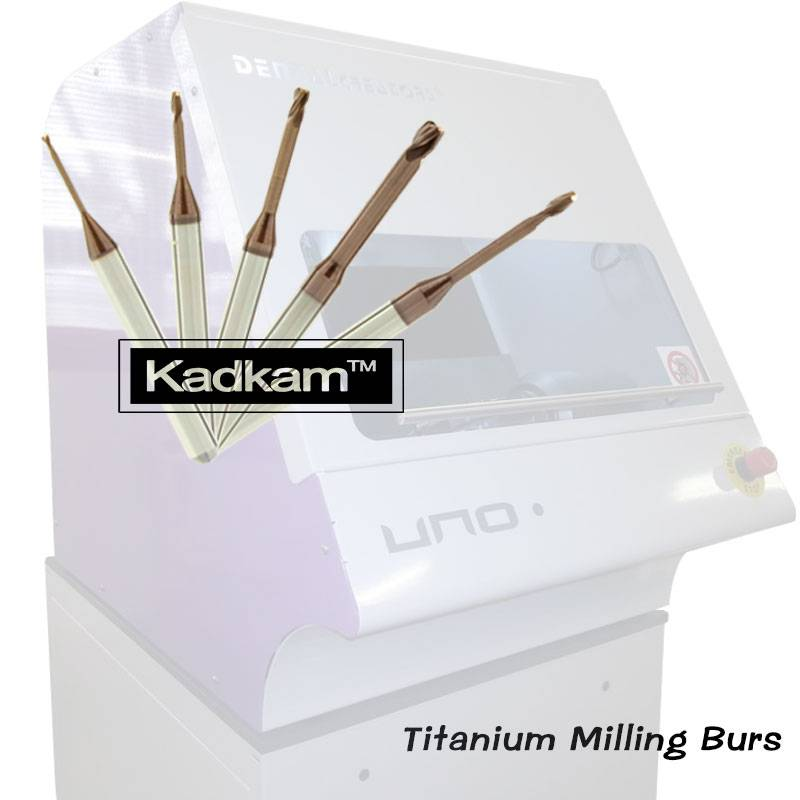 Dental Creators UNO.5 milling burs for titanium blocks milled