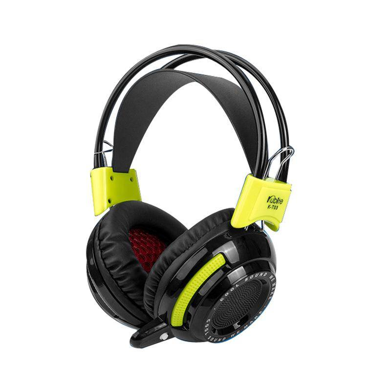 Wired Headphones USB VIB Vibration Bass LED Glare System Headsets Earphones for Game Playing Movie