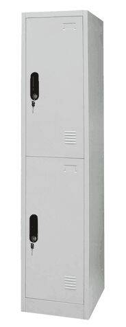 ew design 2 door steel storage locker / vertical metal employee locker