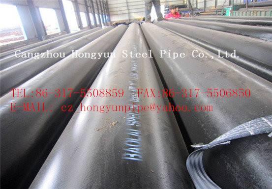 Large diameter heavy wall API 5L X52 seamless steel pipe