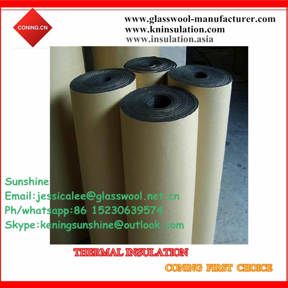 Fireproof NBR/PVC rubber foam sheet with one side adhesive paper