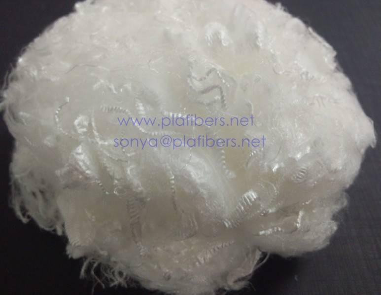 PLA staple fiber, spinning grade