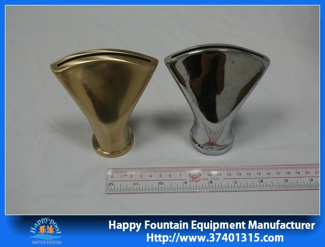stainless steel or copper mater fan nozzle water fountain