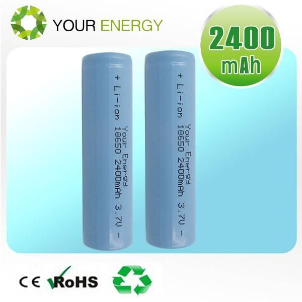 3.7V Li-ion rechargeable cylindrical 18650 battery 2000mah, 2200mah, 2400mah, 2600mah, 2800mah