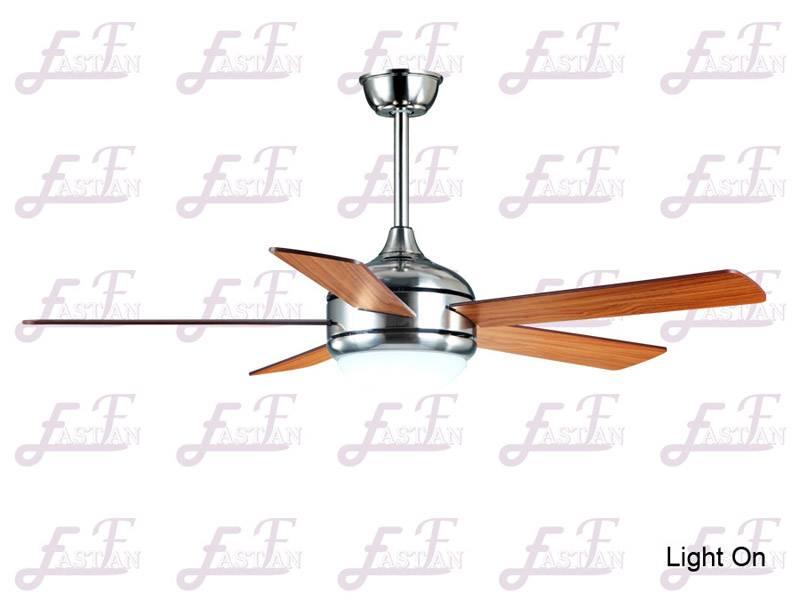 East Fan 52inch Five Blade Indoor Ceiling Fan with light item EF52101 Nickel ceiling fans