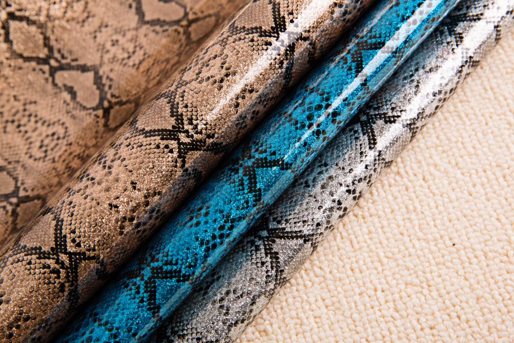 Snake Glitter Leather