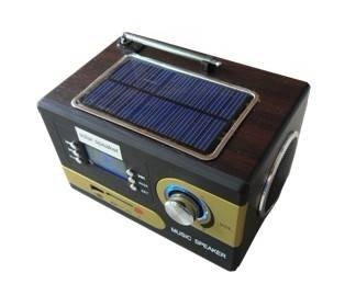 Multi-functional Solar card speaker with radio function Alarm Clock
