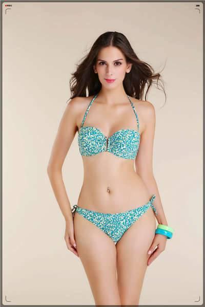 Sexy girl vintage push up bikini set fashionable bikini swimwear