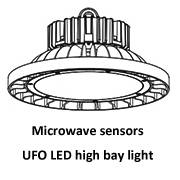 Microwave sensors UFO LED high bay lights 100W, 150W, 200W