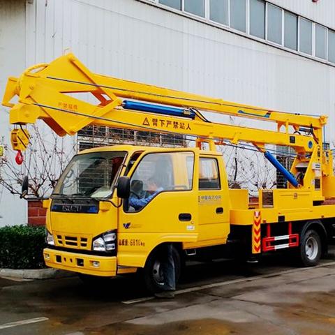 Japanese I-SUZU 16m aerial platform high attitude operation truck for factory price sale