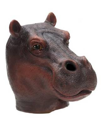 Youtumall Deluxe Flesh Latex Hippo Mask Costume