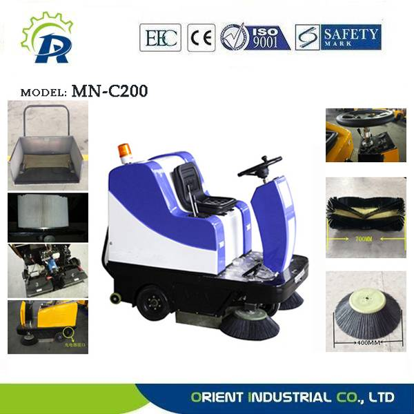 Commercial floor sweeping machine