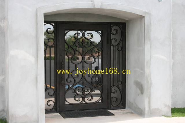 Hot-sale wrought iron decorative entry door