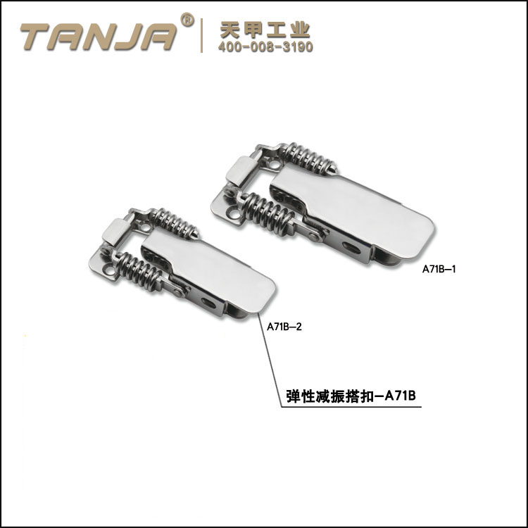 TANJA A71B stainless steel padlock spring loaded flexible and damping toggle clips for Energy Saving