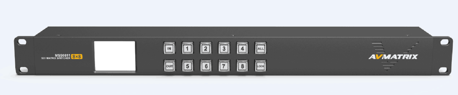 8X8 3G-SDI Matrix Switcher