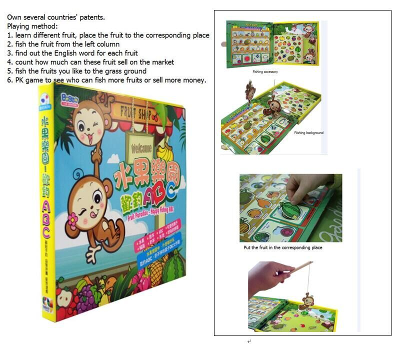 Fruit Paradise - Catching Fruit Magnetic Book