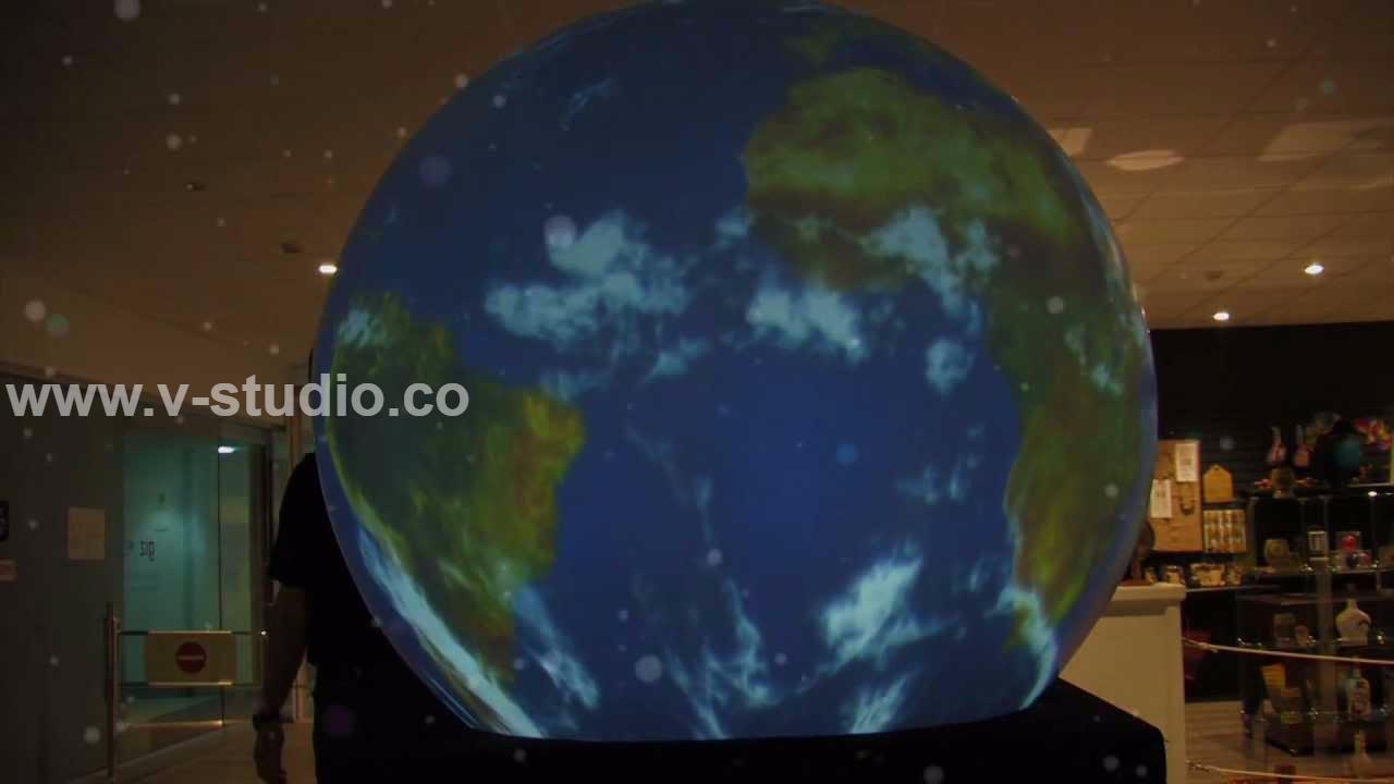Interactive Sphere Globe Dome