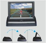 4.3 inch Universal CCTV TFT Monitor ET-DV 438 with DVR LCD Sunshade