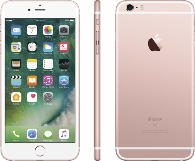 Apple - iPhone 6s Plus 128GB - Rose gold Unlocked Phone