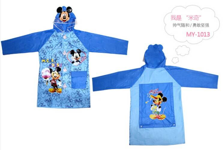 pvc water-repellent kids raincoat
