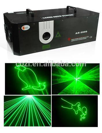 Single Green Animation Laser Light Disco Light for Wedding Disco Stage Single Green Animation Laser