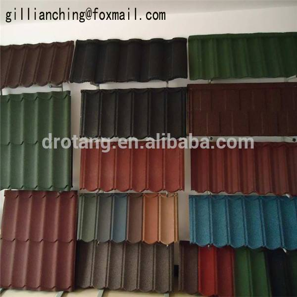 stone coated metal roofing/wave roman type metal roofing