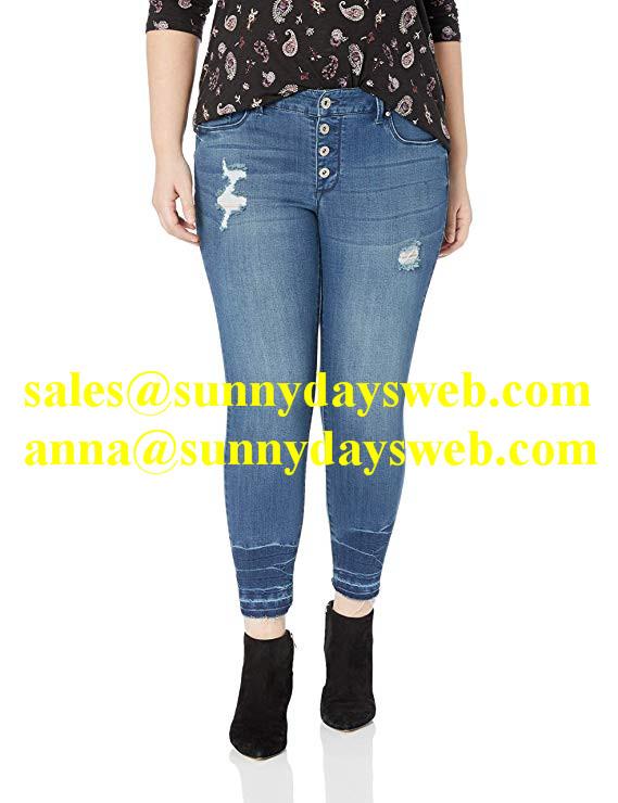 Skinny based sexy ladies light blue washing jeans