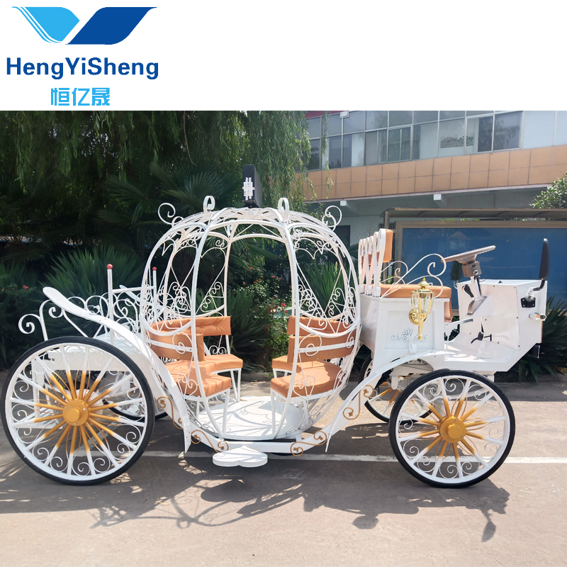 Lovely Surrey from China Electric Horse Carriage With Led Screen