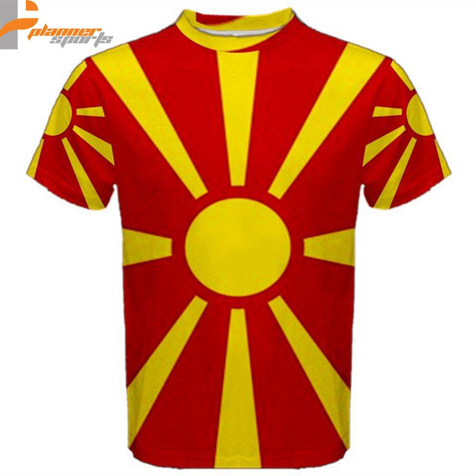 Macedonia Macedonian Flag Sublimated Sublimation T-Shirt S,M,L,XL,2XL,3XL