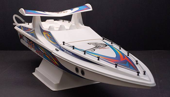 Tiger Shark Nitro Gas Powered RC Remote Control Boat RTR Powerful 15 Class Engine With Cooling Syste