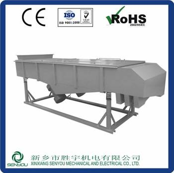 Competitive price linear vibrating screen equipment with CE ISO certificate