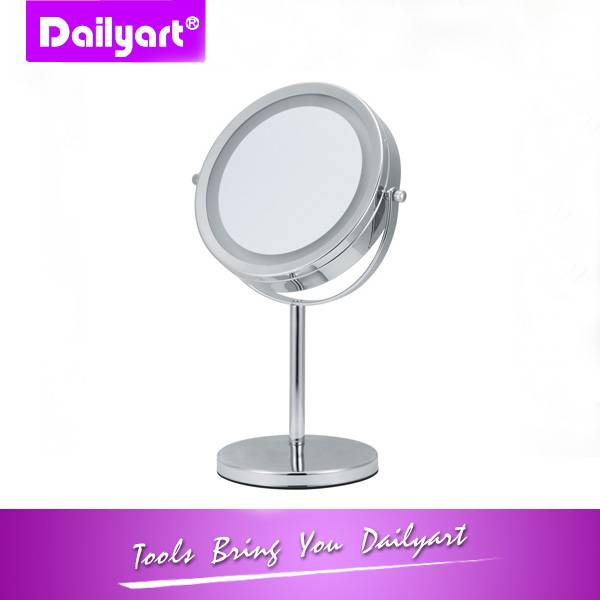 Dual-sided Table Top LED Makeup Mirror