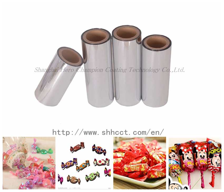 Metallized twistable film for candy packing