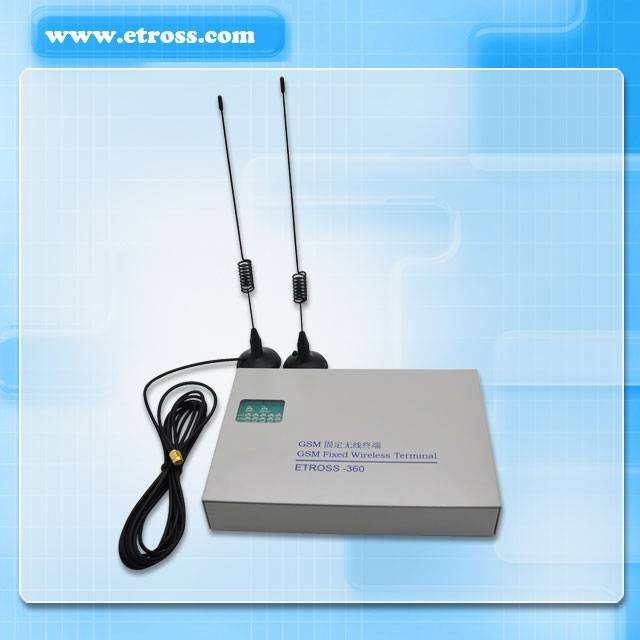 2 Ports 2 sim dual-band 900/1800mhz GSM FWT/GSM to phone line converter to make 2 separate calls at