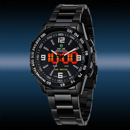 WEIDE Luxury Date Day Analog LED Display Men's Diving Sport Army Watches