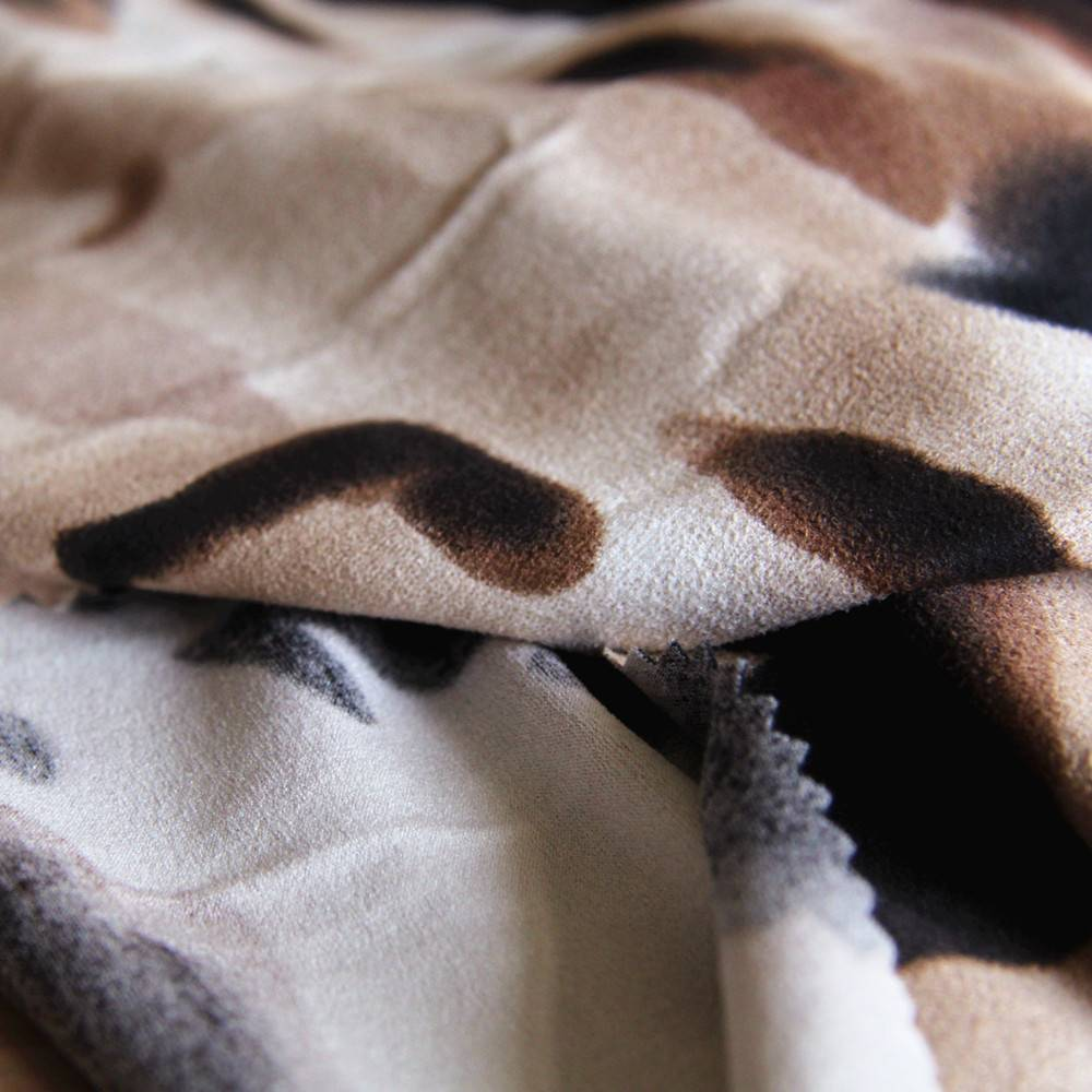 90% Polyester and 10% Spandex Print Suede fabric for sofa