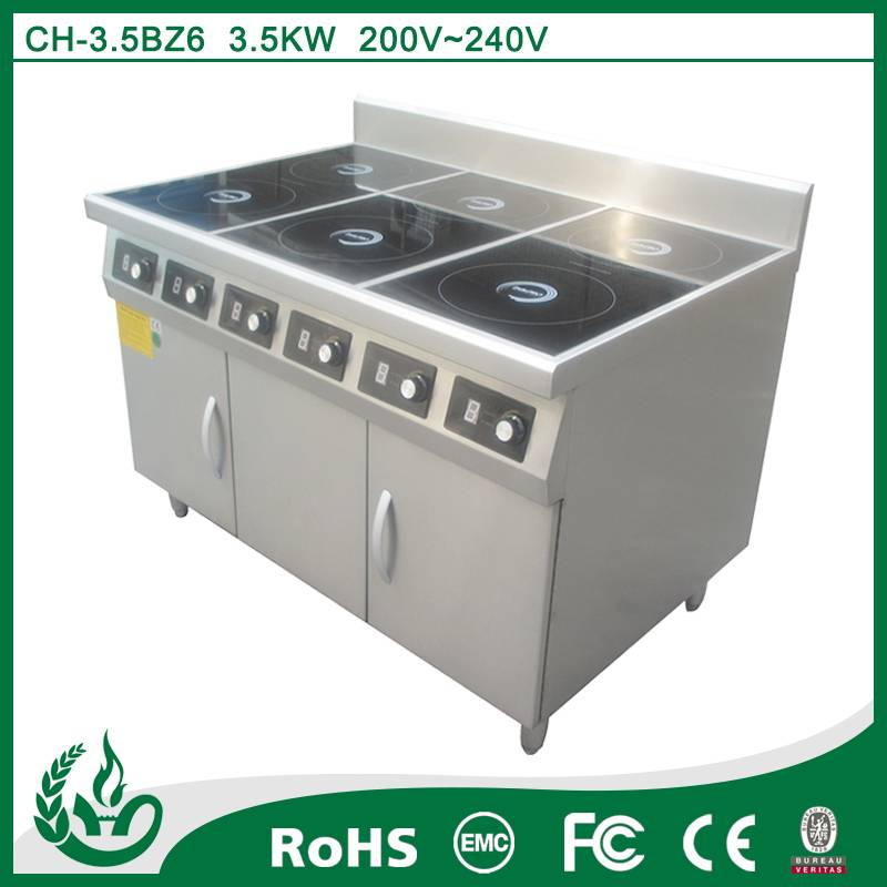 Free standing induction cooker range