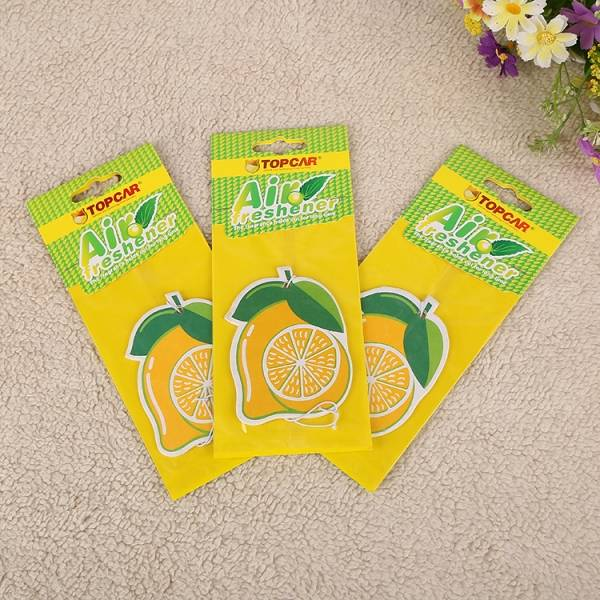 Fruit scented Paper Car Air Freshener,fruit shaped paper air fresheners