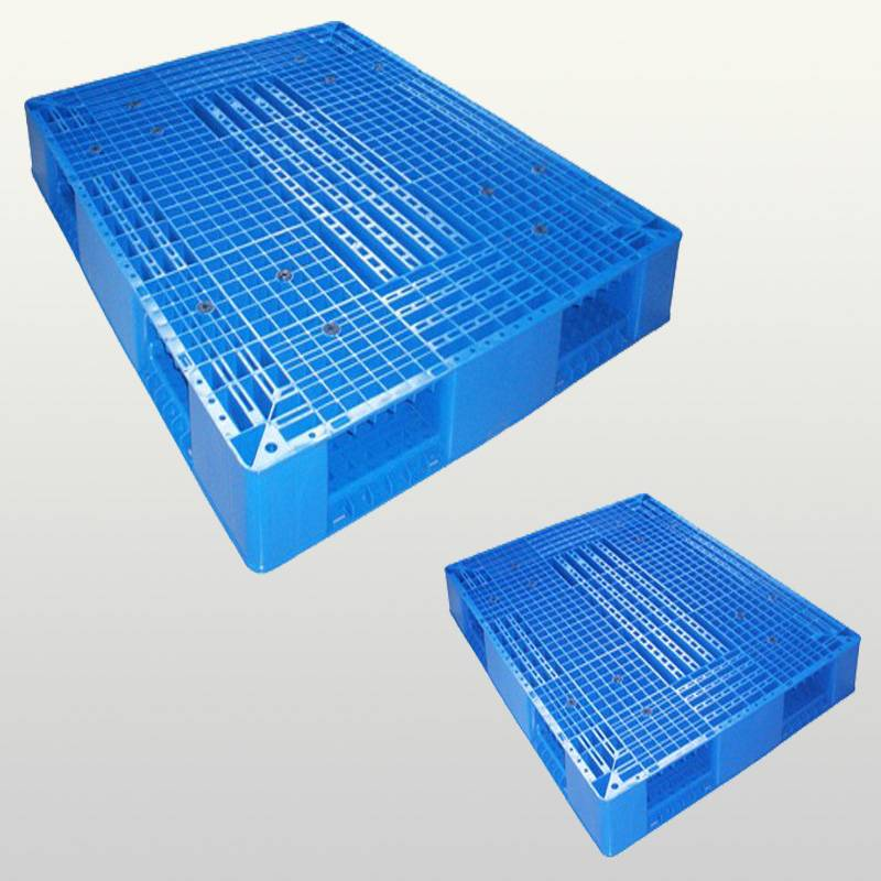 plastic pallet with double-faced.Grid.Stackable.1500*1500*150