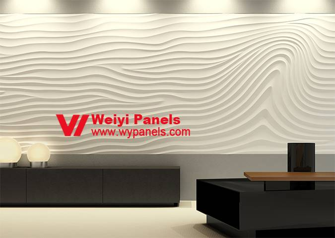 3D Wave Wall Panels-3D Wall Panels Background Wall WY-216