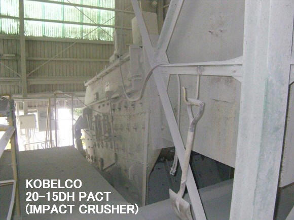 "USED ""KOBELCO"" MODEL 2015 DHPACT CRUSHER (IMPACT CRUSHER) WITH HYDRAULIC PUMP UNIT"