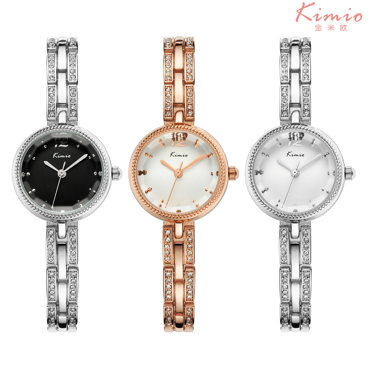 2017 Newest Fashion brief ultra-thin alloy diamond womens watches waterproof brand watches
