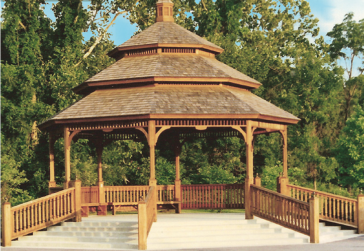Chinese style outdoor gazebo garden tent