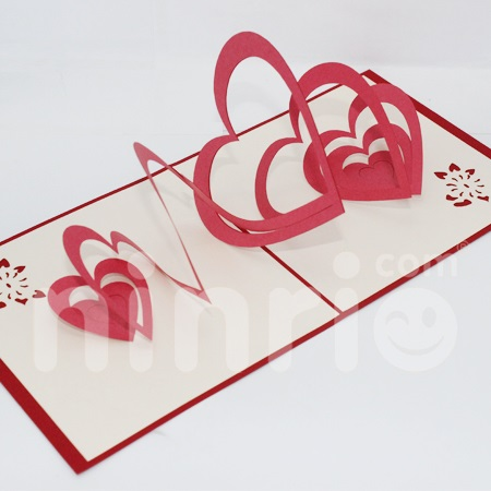 Heart Pop Up Card Handmade Greeting Card